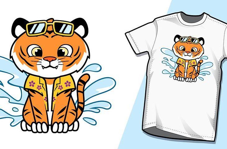 tee-shirt avec chat